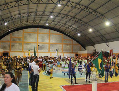 abertura do XVII Jogos Escolares de Pombos