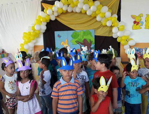 Prefeitura realiza a festa da páscoa da Creche Municipal