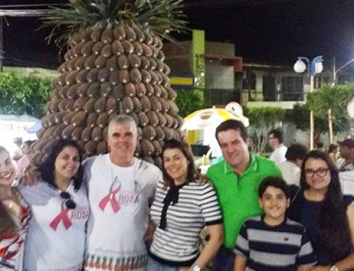 Pombos faz monumento de boas vindas a 32ª Edição da Festa do Abacaxi