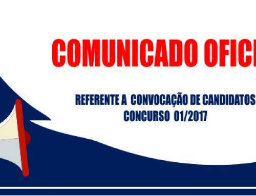 Prefeitura convoca novos candidatos aprovados em concurso 01/2017