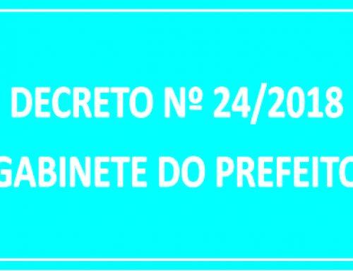 DECRETO Nº 24 – REVOGA DECRETO Nº 20 E DÁ OUTRAS PROVIDÊNCIAS