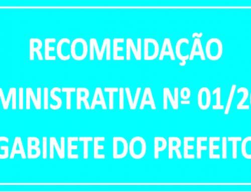 RECOMENDAÇÃO ADMINISTRATIVA/ GP Nº 01/2018