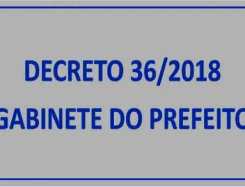 DECRETO Nº 36 – PRORROGA DECRETO Nº 17 E DÁ OUTRAS PROVIDÊNCIAS