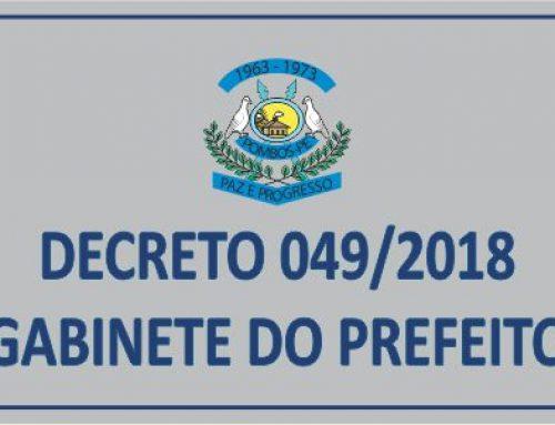 DECRETO Nº 49 – Determina data máxima para emissão de empenhos no ano 2018 e dá outra providencias.