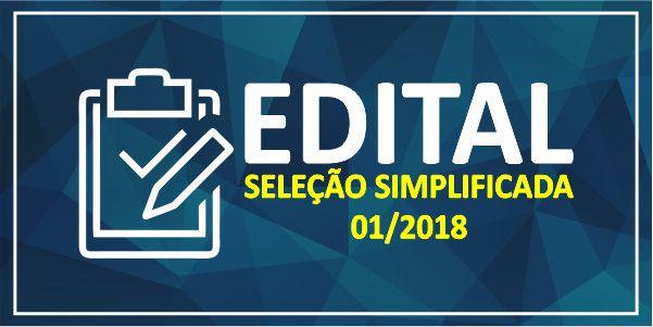 Edital – Seleção simplificada 01 2018 – PMP
